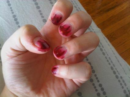 Bloody nails - The Walking Dead Zombie Cosplay
