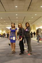 Retro TARDIS Cosplay, Rose, and Femme Ten
