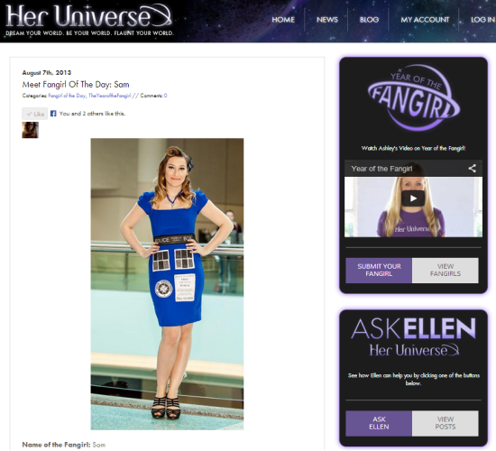 Sam Maggs Her Universe Fangirl of the Day Year of the Fangirl