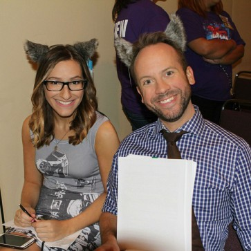 Wolf ears on for the Bitten panel!