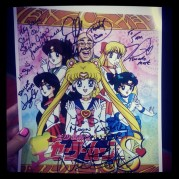 An autograph from the Sailor Moon voice actors and I can die happy