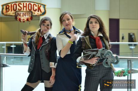 Sam Maggs and Karlee Morse Rule 63 Femme Booker Cosplay Bioshock Infinite and Hilary Craig as Elizabeth